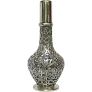 Chinese 4 Chamber Glass and 950 Silver Spirit Decanter