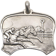 Sterling Silver Horse Race Charm