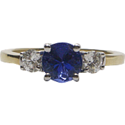 14kt Gold, Daimond and Tanzanite Ring