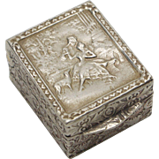 Tiny Silver Box from Italy, circa 1930