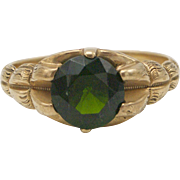 10kt Gold and Chrome Diopside Ring, 2.37 ctw