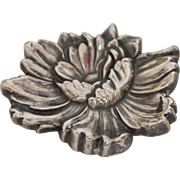 William Kerr Sterling Silver Flower Brooch
