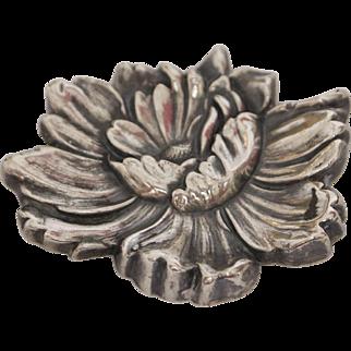 William Kerr Sterling Silver Flower Brooch