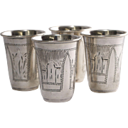 Russian Sterling Silver Vodka Cup Set
