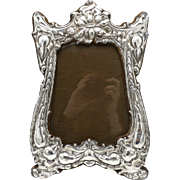Art Nouveau Sterling Silver Picture Frame, circa 1905