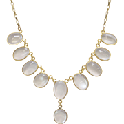 9K Gold and Moonstone Necklace