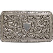 Antique Indonesian Silver Cigarette Case