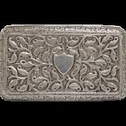 Antique Indonesian Silver Cigarette Case