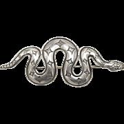 Vintage Kit Carson Sterling Silver Snake Brooch