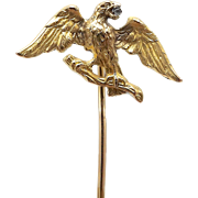 18kt Gold Eagle Stick Pin