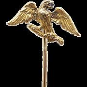 18kt Gold Eagle Stick Pin