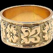 Victorian 9kt Gold Floral Motif Ring