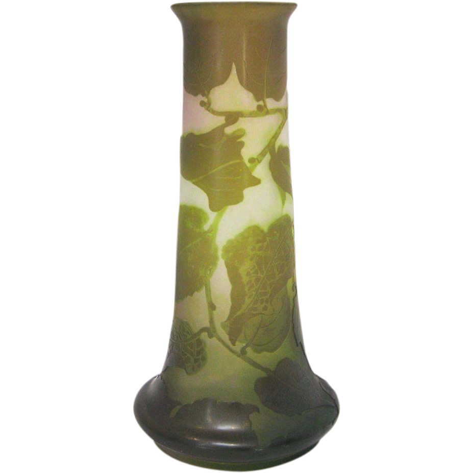gall french 4 color cameo glass vase with foliate decoration from kirstenscorner on ruby lane. Black Bedroom Furniture Sets. Home Design Ideas