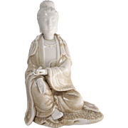 19th century White China Porcelain Figure of Guanyin