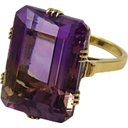 Vintage 14K Gold & 23CT Ametrine Ring