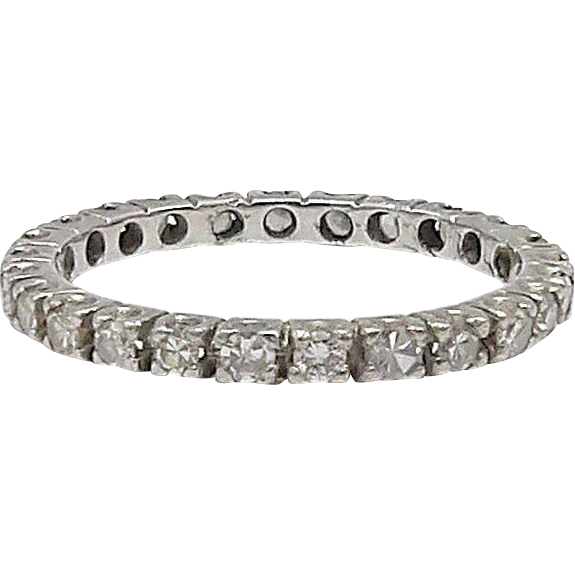 platinum and eternity band from kirstenscorner on