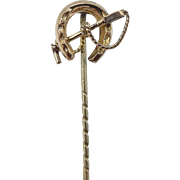 9kt Gold Polo Themed Stick Pin