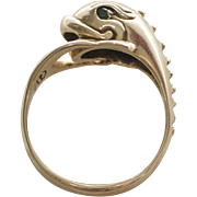 Victorian 14K Gold Charming Dolphin Ring