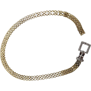14K Gold Belt Buckle and Diamond Bracelet
