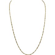 21KT Yellow Gold Twisted Rope Chain