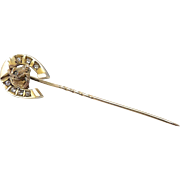 10kt Gold and Diamond Equestrian Stick Pin