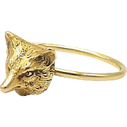 18kt Gold Fox Ring, c. 1910