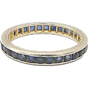 14kt White Gold and Sapphire Eternity Band
