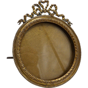 19th Century Belle Époque French Brass Frame
