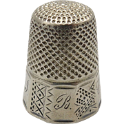 Victorian-era Sterling Silver Thimble