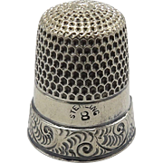 Victorian Sterling Silver Thimble
