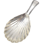 Georgian Sterling Silver Tea Caddy Spoon by Elizabeth Morley, circa 1798