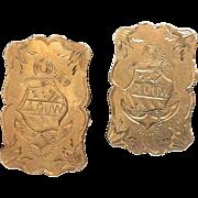 14kt Gold Cufflinks, circa 1880