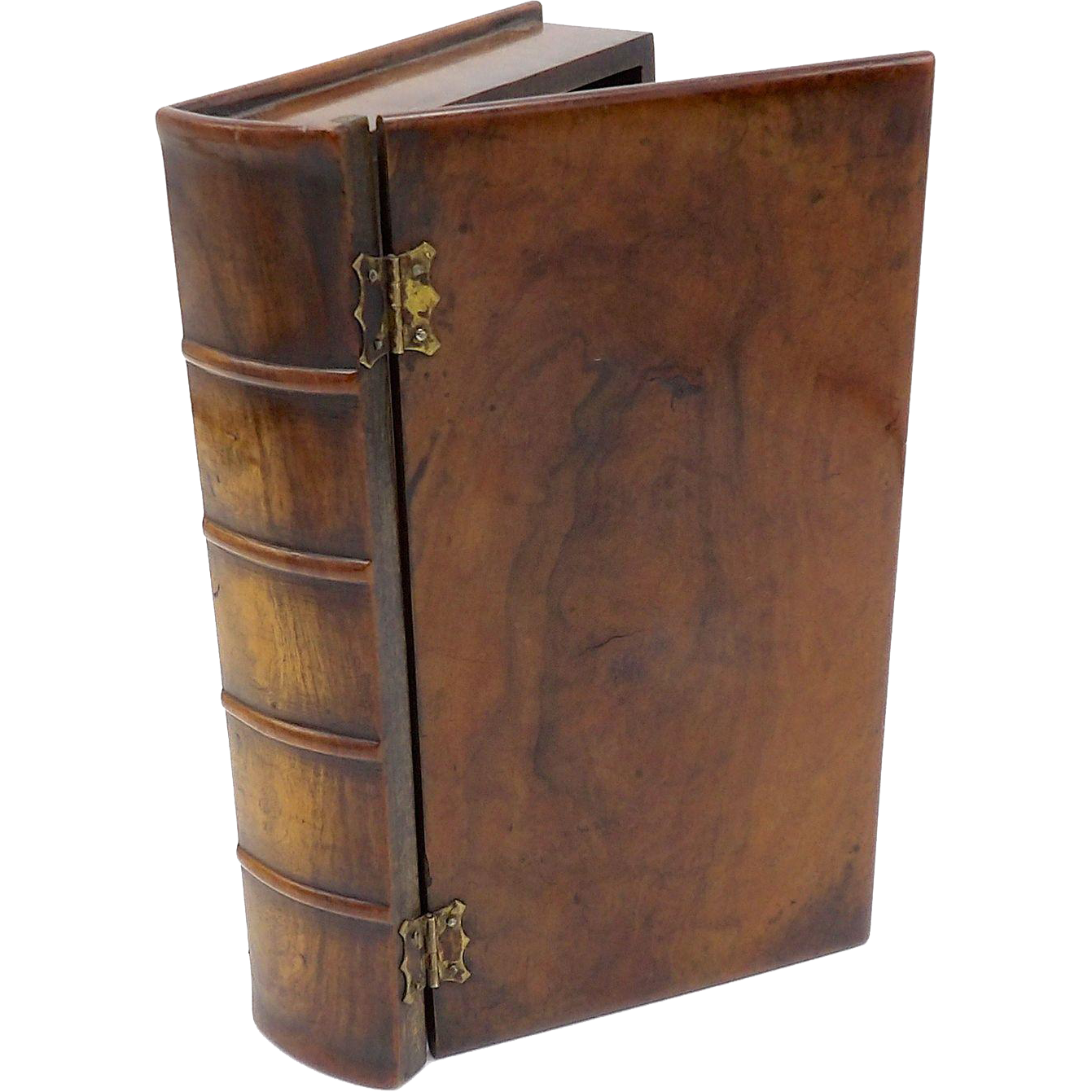 19th Century Handmade Hard Wood Book Shaped Box from ...