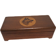 1930's Rin-Tin-Tin Darkwood Box