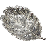 Buccellati Sterling Silver Small Oak Leaf Dish