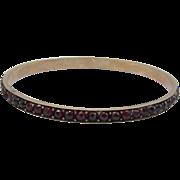 Edwardian Bohemian Gilt Garnet Bracelet