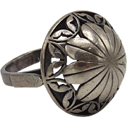 Vintage Sterling Silver Polish Flower Ring