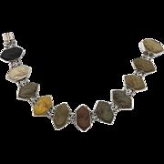 19th Century Lava Sterling Silver Bracelet