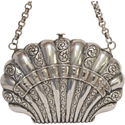 19th Century Sterling Silver Souvenir Purse - Red Tag Sale Item
