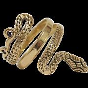 Vintage 18KT Gold Snake Ring