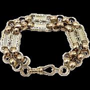 Georgian 9kt Fancy Link Bracelet or Watch Fob