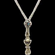 Georgian 15kt Gold Slide Necklace with Hand Charm Holder
