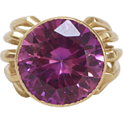 Vintage 14K Gold Synthetic Corundum Cocktail Ring
