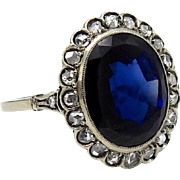15kt White Gold, Sapphire and Diamond Ring
