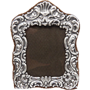 Italian Sterling Silver Repoussé Picture Frame