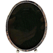 Antique Sterling Silver Oval Picture Frame