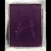Vintage Large Hand-Hammered Sterling Silver Frame