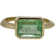 14kt Yellow Gold and Emerald Ring, 2.90 ctw