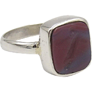 Erotic Banded Agate Intaglio Ring