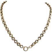 Victorian Link 10K Gold Necklace